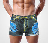Sexy Underwear Men Classic Printed Cotton Spandex Underpants Mens underwear Boxers Shorts Brand-Dollar Bargains Online Shopping Australia
