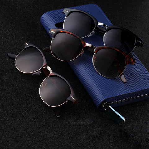 1Pc Retro Half Frame Shades Style Classic Frame Sunglasses Summer Eyewear Women Men Sun Glasses 3 Colors oculos de sol feminino - Dollar Bargains - 1