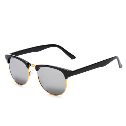 1Pc Retro Half Frame Shades Style Classic Frame Sunglasses Summer Eyewear Women Men Sun Glasses 3 Colors oculos de sol feminino - Dollar Bargains - 4