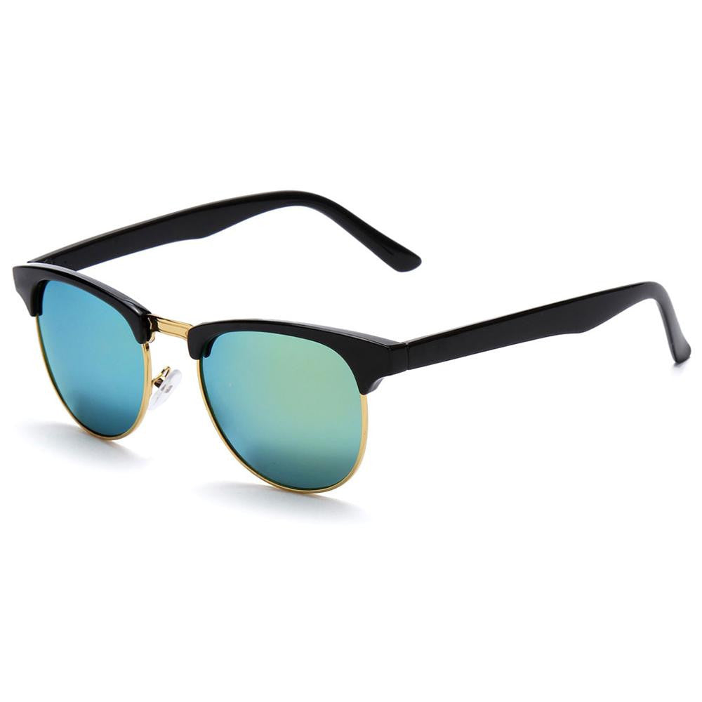 gold Lens / MultiRetro Half Frame Shades Style Classic Frame Sunglasses Summer Eyewear Women Men Sun Glasses 3 Colors