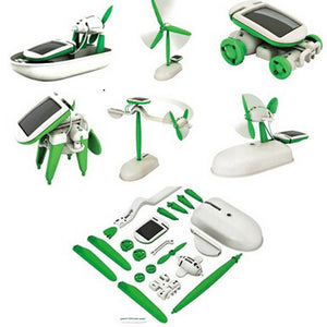 One Pack Can DIY 6 Kinds Magic Mini Plastic Solar Energy Powered EducationToys Best Gift Electric robots Toys For chidren Kids - Dollar Bargains