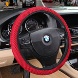 Sandwich Fabric Handmade Steering Wheel Cover Breathability Skidproof Universal Fits Most Car Styling Steering Wheel-Dollar Bargains Online Shopping Australia