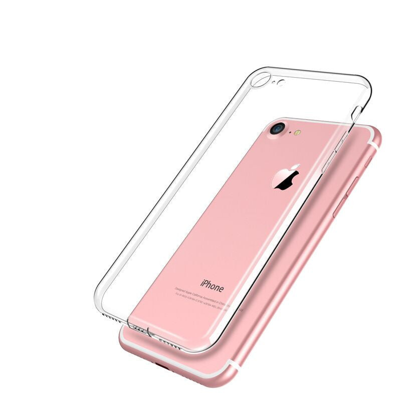buy online 16d72 483ed iphone 7 Case Silicone Cover For iphone 7 Plus Transparent Color Slim Phone  Protection Soft Shell i7 4.7 5.5