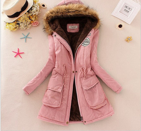 MICHLEY Thickening Warm Fur Collar Winter Coat New 2016 Women Clothes Lamb Wool Jacket Hooded Parka Army Green Overcoat Top198 - Dollar Bargains - 11