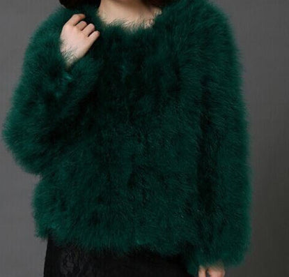 10 colors fashion Ostrich wool turkey fur wool coat feather fur short jacket angelababy-Dollar Bargains Online Shopping Australia