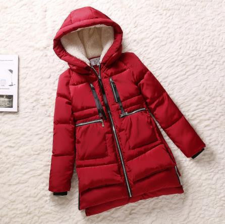 New 2016 Winter Women Wadded Jacket Red Female Outerwear Plus Size 5XL Thickening Casual Down Cotton Wadded Coat Women Parkas - Dollar Bargains - 9