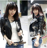Autumn Women jacket pu fashion new brand plus size black leather jacket European style oblique zipper motorcycle PU jacket-Dollar Bargains Online Shopping Australia