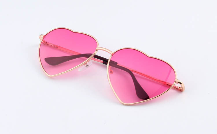 12Heart Shaped Sunglasses WOMEN metal Reflective LENES Fashion sun GLASSES MEN Mirror