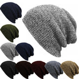 1PC Knit Men's Women's Baggy Beanie Oversize Winter Warm Hat Ski Slouchy Chic Crochet Knitted Cap Skull - Dollar Bargains - 1