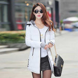 FIONTO Winter Coat Women New Winter Jacket For Women Hooded Long Section Cotton Coat Slim Waist Thick Parkas Outwear A0006-Dollar Bargains Online Shopping Australia