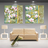 modern 3D white lotus definition pictures canvas Home Decoration living room Wall modular painting Print (no frame)2pcs-Dollar Bargains Online Shopping Australia