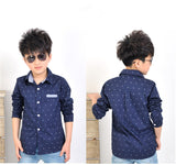 Spring Children kids fashion Print Anchors shirts , boys cotton shirts , boys tops clothing shirts-Dollar Bargains Online Shopping Australia