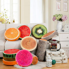 New Creative 3D Summer Fruit PP Cotton Office Decorative Pillows Cute Round Chair Back Cushion Throw Pillow-Dollar Bargains Online Shopping Australia