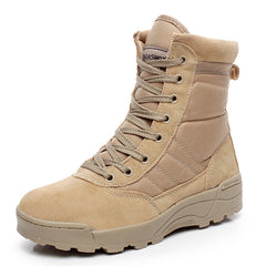Military Tactical Combat Outdoor Sport Army Men Boots Desert Botas Hiking Autumn Shoes Travel Leather High Boots Male-Dollar Bargains Online Shopping Australia