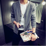 2016 British style Men's fashion casual single breasted decorated knit cardigan coat /male silm solid color cardigan sweater - Dollar Bargains - 4