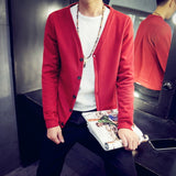 2016 British style Men's fashion casual single breasted decorated knit cardigan coat /male silm solid color cardigan sweater - Dollar Bargains - 3