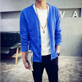 2016 British style Men's fashion casual single breasted decorated knit cardigan coat /male silm solid color cardigan sweater - Dollar Bargains - 6