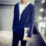2016 British style Men's fashion casual single breasted decorated knit cardigan coat /male silm solid color cardigan sweater - Dollar Bargains - 2