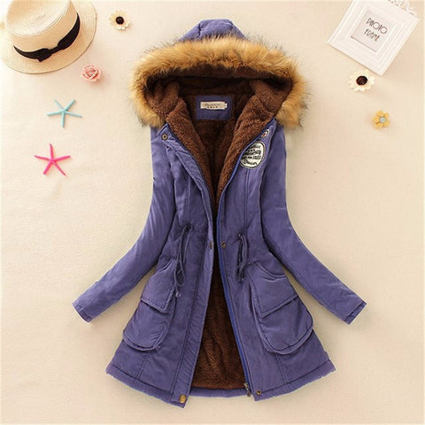 Women Coat 2016 Winter Parka Casual Outwear Military Hooded Coat Winter Jacket Women Padded Coats Woman Clothes FZ037 - Dollar Bargains - 14
