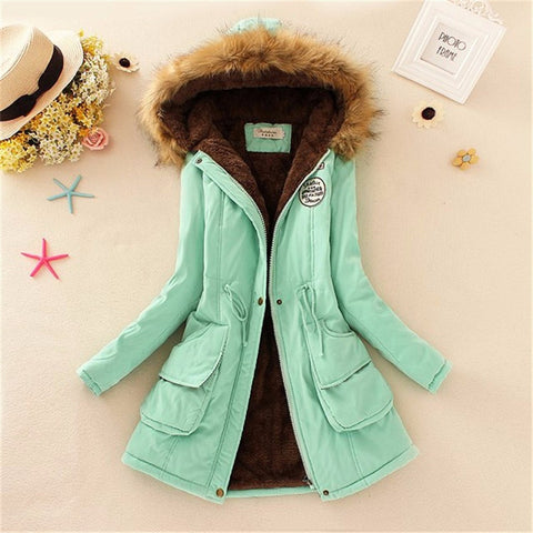 Women Coat 2016 Winter Parka Casual Outwear Military Hooded Coat Winter Jacket Women Padded Coats Woman Clothes FZ037 - Dollar Bargains - 5
