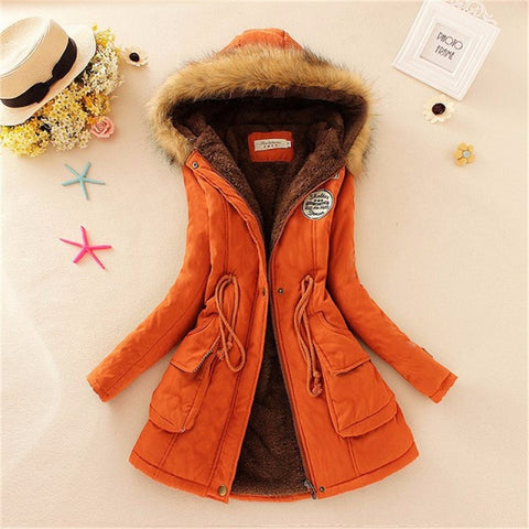 Women Coat 2016 Winter Parka Casual Outwear Military Hooded Coat Winter Jacket Women Padded Coats Woman Clothes FZ037 - Dollar Bargains - 9