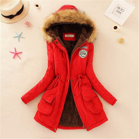 Women Coat 2016 Winter Parka Casual Outwear Military Hooded Coat Winter Jacket Women Padded Coats Woman Clothes FZ037 - Dollar Bargains - 6