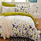 New Origami Cranes Bedding Set Polyester Bed Sheet Cozy Duvet Cover Sets Bedspread Queen/Full/Twin Size Jogo de Cama-Dollar Bargains Online Shopping Australia