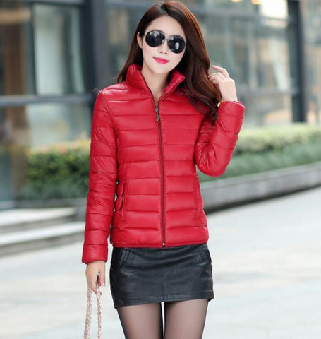 Winter Jacket Coat Women 2016 New Winter Women Parka Short Slim Thickening Down Cotton-padded Jacket Female Outerwear Black Red - Dollar Bargains - 8
