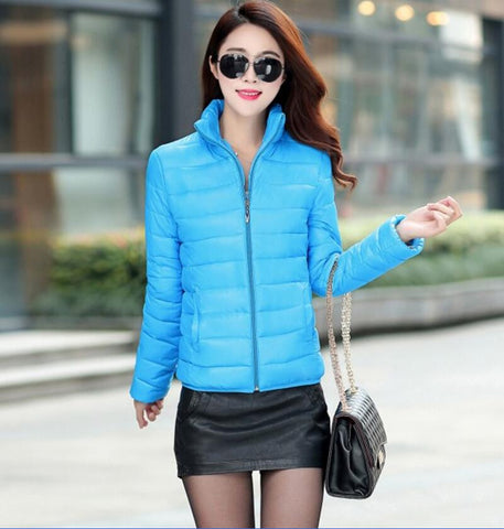 Winter Jacket Coat Women 2016 New Winter Women Parka Short Slim Thickening Down Cotton-padded Jacket Female Outerwear Black Red - Dollar Bargains - 3