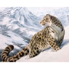 HOME BEAUTY 40x50cm picture paint on canvas diy digital oil painting by numbers drawing home decor craft animals snow GX7471-Dollar Bargains Online Shopping Australia
