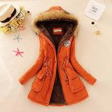 Winter Jacket Women New Winter Womens Parka Casual Outwear Military Hooded Coat Long Femme Woman Clothes A1617-Dollar Bargains Online Shopping Australia