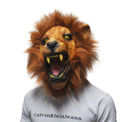 Halloween Props Adult Angry Lion Head Masks Animal Full Latex Masquerade Birthday Party Rubber Silicone Face Mask Fancy Dress-Dollar Bargains Online Shopping Australia