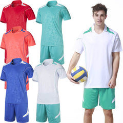 New Brand Men's Sports Volleyball Uniforms Blank Soccer Training Suit Running Jersey Sets Leisure Jogging Printing Red XL-Dollar Bargains Online Shopping Australia