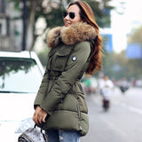 TOP Quality Large Real Fur 2016 Winter Jacket Women Raccoon Fur Collar Hooded Thick Down Coat For Women Winter Parka - Dollar Bargains - 1