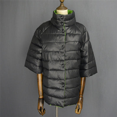 winter jacket women Fashion Half Sleeve Stand Collar Parkas &Coat for Autumn Women with Hollow Cotton Inside-Dollar Bargains Online Shopping Australia