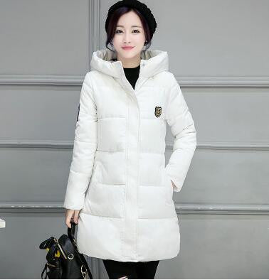Winter Women Coat Elegant Pure color Thick Warm Hooded Down Cotton Jacket High quality Large size Women Coat-Dollar Bargains Online Shopping Australia