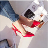 Sexy Point Toe Patent Leahter High Heels Pumps Shoes est Woman's Red Sandals Heels Shoes Wedding Shoes 9cm 35-41 Size-Dollar Bargains Online Shopping Australia