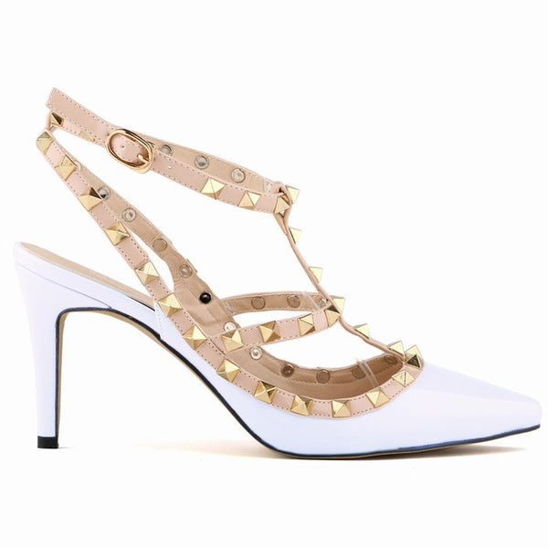 09c231c8e Women Pumps Ladies Sexy Pointed Toe High Heels Fashion Buckle Studded  Stiletto High Heel Sandals Shoes