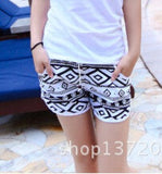 2014 new fashion beach shorts for women and men Black and white stripes shorts  K464 ,free shipping - Dollar Bargains - 17