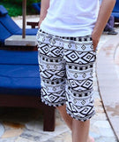 2014 new fashion beach shorts for women and men Black and white stripes shorts  K464 ,free shipping - Dollar Bargains - 14