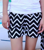 2014 new fashion beach shorts for women and men Black and white stripes shorts  K464 ,free shipping - Dollar Bargains - 5