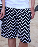 2014 new fashion beach shorts for women and men Black and white stripes shorts  K464 ,free shipping - Dollar Bargains - 12