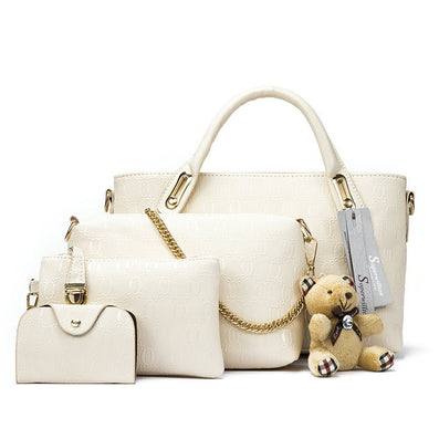 Famous Brand Women Bag Top-Handle Bags Fashion Women Messenger Bags Handbag Set PU Leather Composite Bag #150-Dollar Bargains Online Shopping Australia