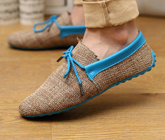 men shoes spring summer breathable fashion weaving Woven men casual flat shoes lace-up loafers comfortable mocassins-Dollar Bargains Online Shopping Australia