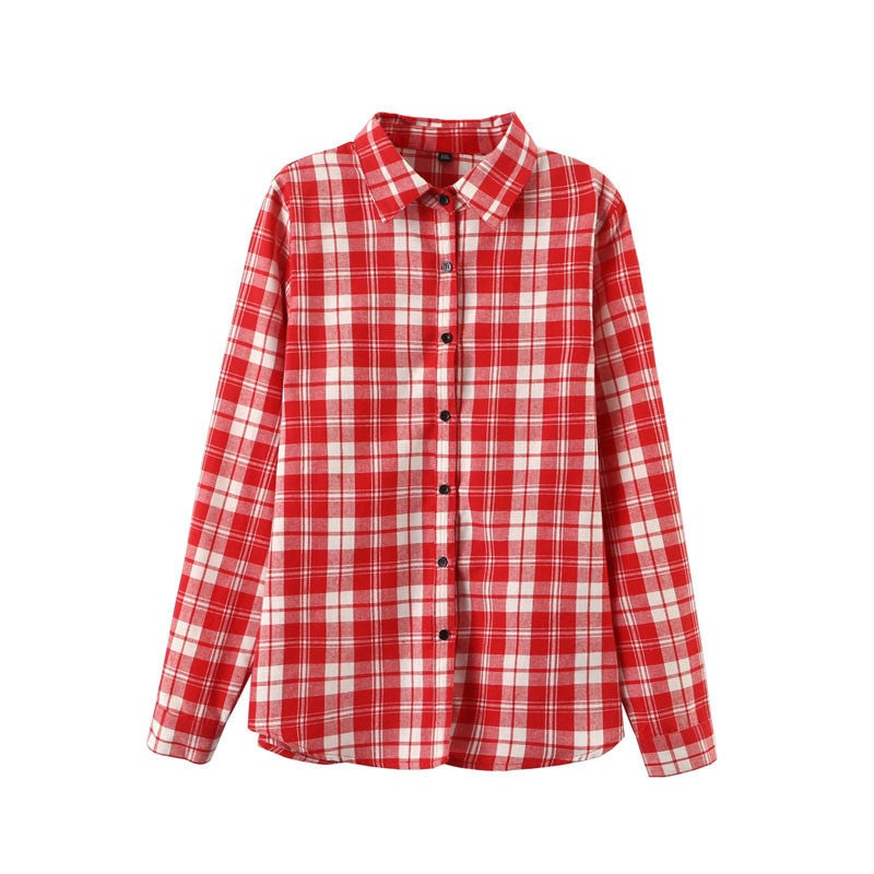 2016 Sexy Autumn Fashion Women Blouses Casual Plaid Cotton Blousas Female Long Shirt Long Sleeve Plus Size Women Clothing BE66 - Dollar Bargains - 3