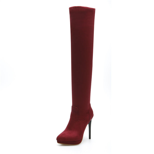 07c718b81e5 Winter women Over The knee high boots Long boots Red bottom thigh high  woman genuine leather boots