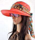 Free shipping 2016 summer hats for women chapeu feminino new fashion visors cap sun collapsible anti-uv hat 6 colors - Dollar Bargains - 6