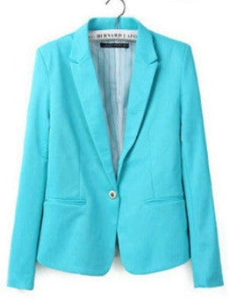 Hot Sale! Fashion Jacket Blazer Women Suit Foldable Long Sleeves Lapel Coat Lined With Striped Single Button Vogue Blazers XL - Dollar Bargains - 4