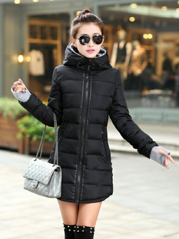 Women's Winter Jacket 2016 New Medium-long Down Cotton Female Parkas Plus Size Winter Coat Women Slim Ladies Jackets And Coats - Dollar Bargains - 8