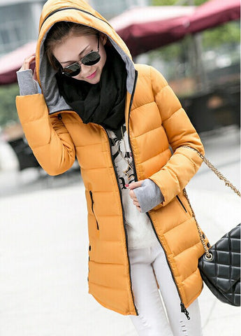 Women's Winter Jacket 2016 New Medium-long Down Cotton Female Parkas Plus Size Winter Coat Women Slim Ladies Jackets And Coats - Dollar Bargains - 7
